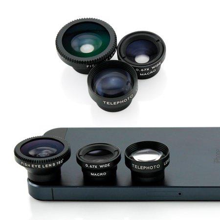 3 in 1 Universal Phone kit Fisheye Fish Eye Lens, Wide Angle Telephot 2xZoom and Micro Lens Smartphone Camera Lens - Silver - Walmart.com