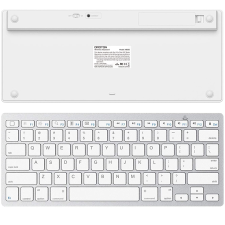 Slim Wireless Keyboard, Ergonomic Design,made of Durable ABS Material,for Windows, XP, Mac OS, Vista, Linux and , IOS System BLACK - image 5 of 8