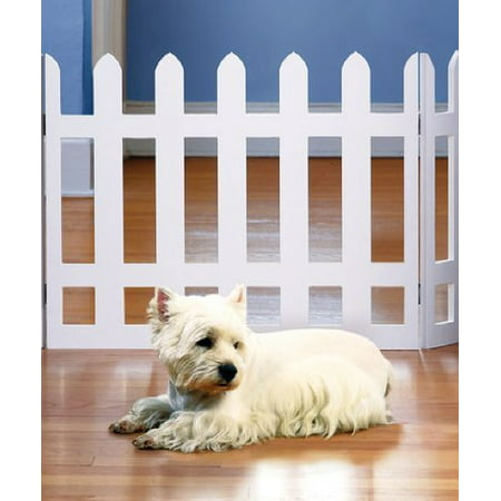 Folding Pet Gate - White Picket Fence Folding Pet Gate Indoor/Outdoor - 19