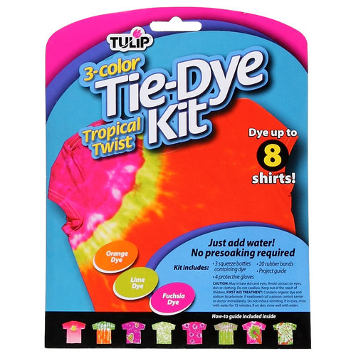 Tulip Medium Tie Dye Kit, Tropical Twist, 3pc