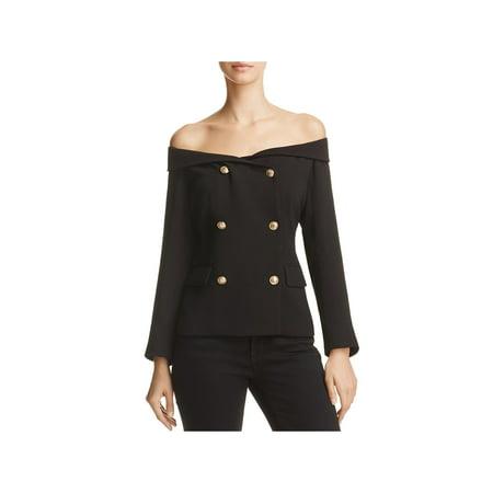 Bardot Womens Off-The-Shoulder Work Wear Blazer - Four Seasons Blazer
