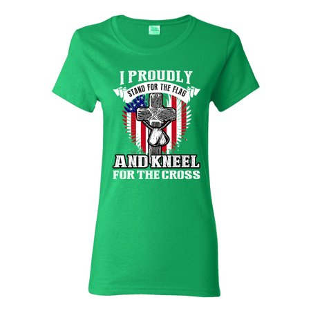 City Shirts Ladies I Proudly Stand For The Flag And