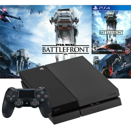 Refurbished PlayStation 4 PS4 500GB Console with Star Wars Battlefront Bundle