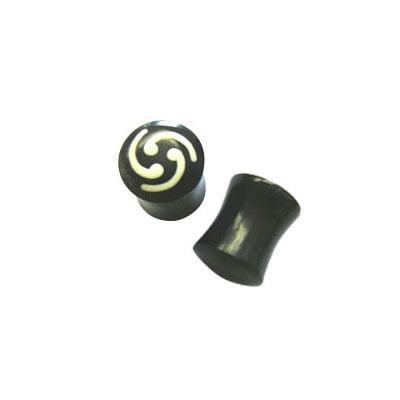 Pair of Spiral Horn Ear Plug (000 gauge)