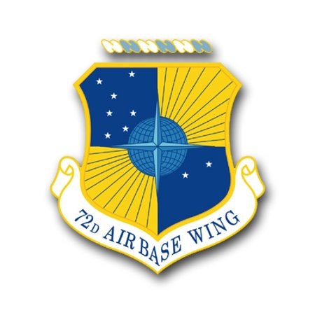 3.8 Inch Air Force 72nd Air Base Wing Vinyl Transfer Decal