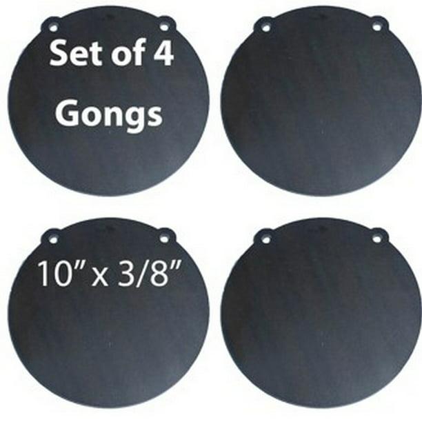 """AR500 3//8/"""" Steel Shooting Target 10/"""" 12/"""" Gongs Set of TWO"""