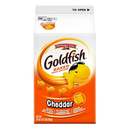 Pepperidge Farm Goldfish Baked Snack Crackers, Cheddar, 30