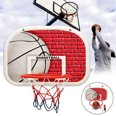 Hangable Mini Basketball Hoop Rim Net With Pump Basketball Portable  Backboard System For Kids Toddler Indoor Outdoor - Walmart.com a3c26567379