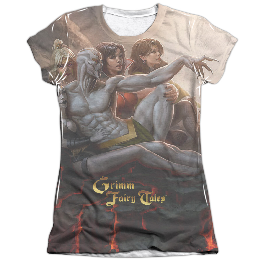 Zenescope Evil Vs Good (Front Back Print) Juniors Sublimation Shirt