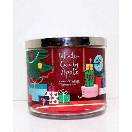 Bath & Body Works 3-Wick WINTER CANDY APPLE Scented Candle (Winter (Yankee Candle Vs Bath And Body Works)