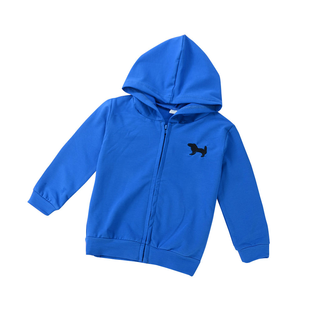 DZT1968 Toddler Kids Babys Girls Autumn Winter Solid Hooded Coat Outwear Clothes