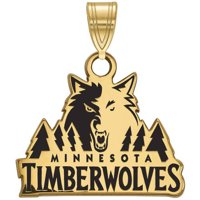 NBA Minnesota Timberwolves 14kt Gold-Plated Sterling Silver Small Enamel Pendant