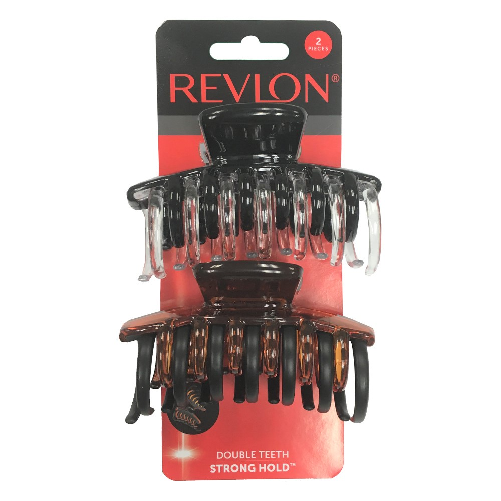 (2 Pack) Revlon Strong Hold Hair Claw Clips, 2 Count