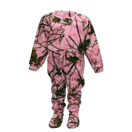 INFANT-TODDLER FLEECE CAMO CRAWLER / ONE PIECE SLEEPER CAMO / PINK-PURPLE-GREEN (Pink (Camouflage Sleeper)