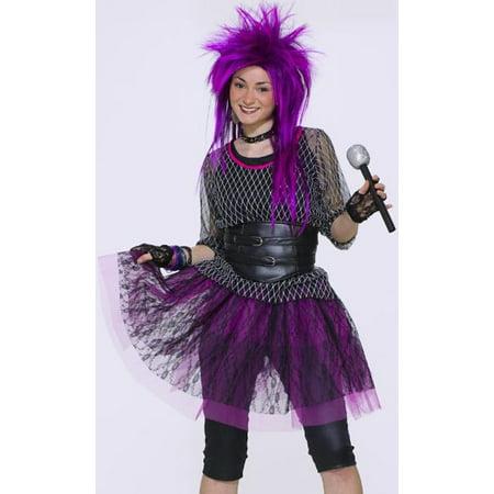 Forum Tween Teen 80s Punk Rock Star Girls Halloween Costume