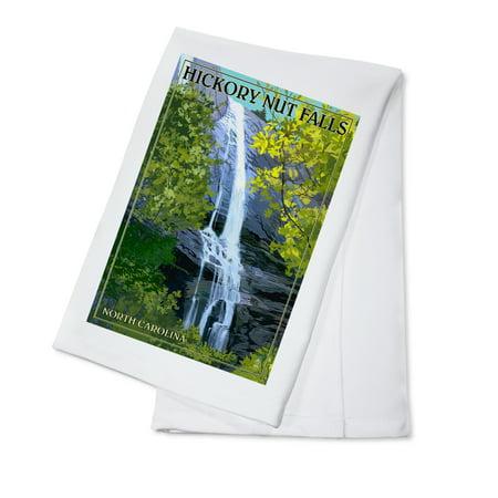 Chimney Rock State Park, North Carolina - Hickory Nut Falls - Lantern Press Poster (100% Cotton Kitchen Towel) (Hickory Tea)
