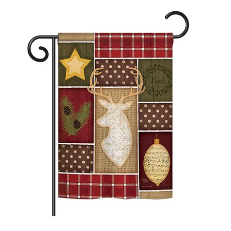 Breeze Decor - Christmas Noel Winter - Seasonal Winter Wonderland Impressions Decorative Vertical Garden Flag 13