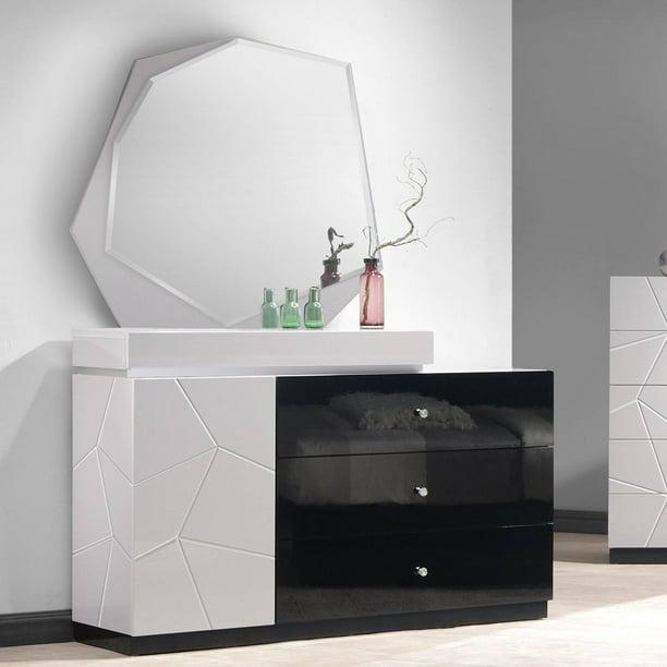J Amp M Furniture Turin 3 Drawer Dresser And Mirror Walmart Com Walmart Com