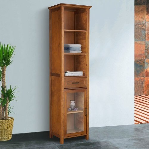 The Oak Finish Linen Tower Bathroom Storage Cabinet With Doors! Your  Clothing From Theses