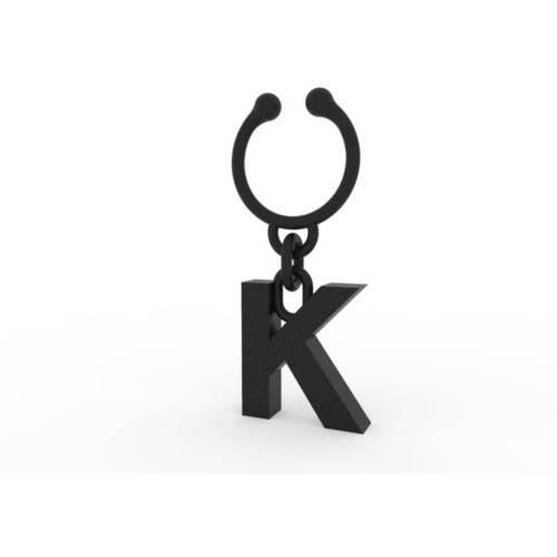 Image of Letter K Wine Charm