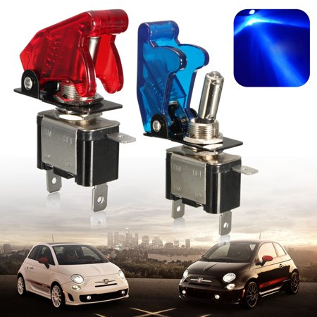 2Pcs 12V 20A LED rocker Light Switch Car Truck Auto Red Cover Car Accessories Rocker Switch Control SPST Toggle ON/OFF