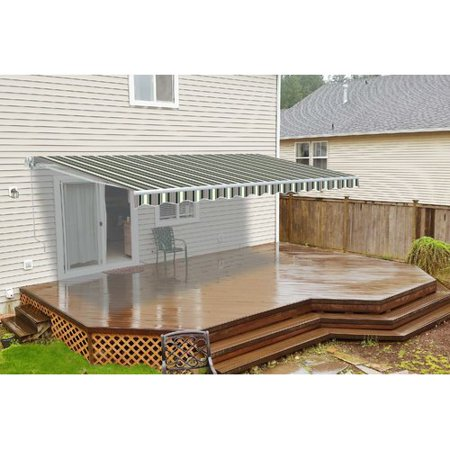 - Aleko 13 ft. W x 10 ft. D Retractable Patio Awning