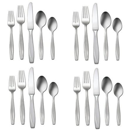 Oneida Camlynn (20 Piece) Flatware Set Knives Serving & Teaspoons Dinner & Salad Forks Silverware Set 18/0 Stainless Steel