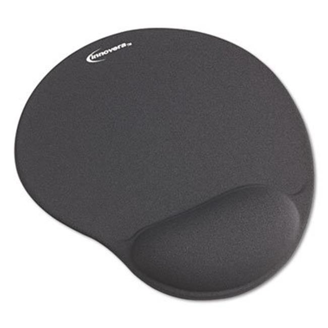 Mouse Pad with Gel Wrist Pad, Nonskid Base, 10.38 x 8.88, Black - image 1 of 1