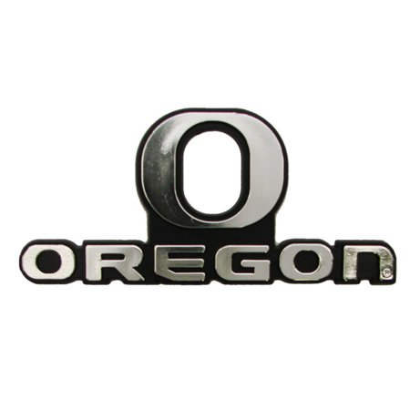 Oregon Ducks Silver Auto Emblem Decal Sticker - Oregon Ducks Stickers