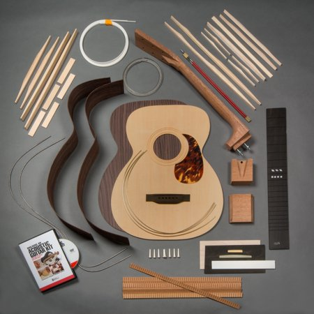 stewmac build your own om acoustic guitar kit bolt on neck torrefied top indian rosewood back. Black Bedroom Furniture Sets. Home Design Ideas