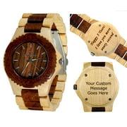 Wooden watch-Wood watch-Wood engraving-Custom engraving- personalized watch -wedding gift-Anniversary gift - Men's watch- Women's watch - Unisex watch- Personal Message Laser Engraving - Gamma II