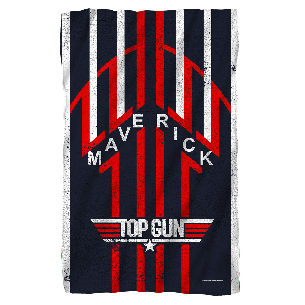 Top Gun Maverick Fleece Blanket White 48X80