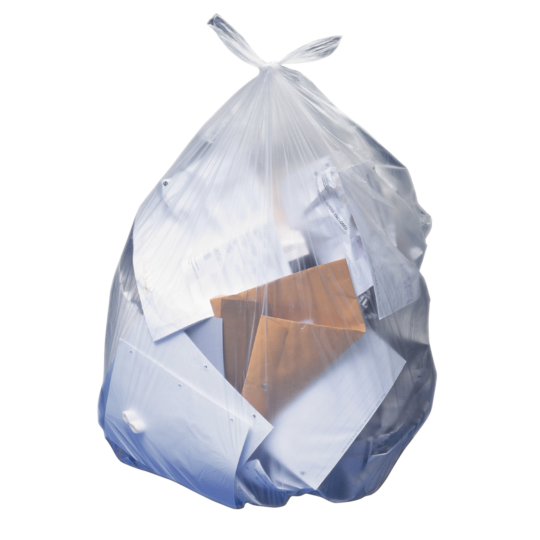 "AccuFit Trash Bags, 23gal, 0.9mil, Clear, 28"" x 45"", 50/Box"