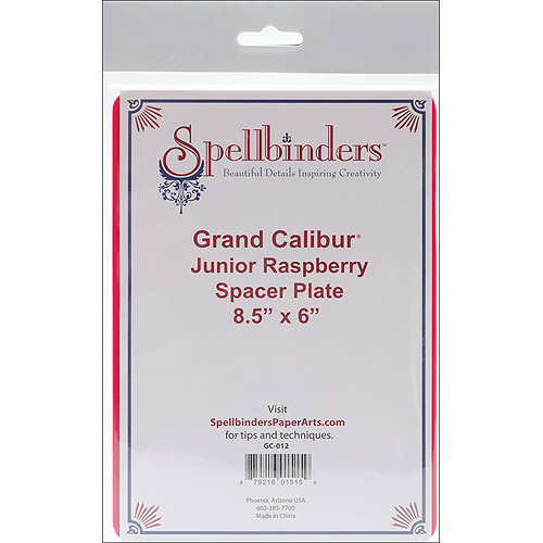 Spellbinders Grand Calibur Junior Spacer Plate 8.5 Inch-Raspberry