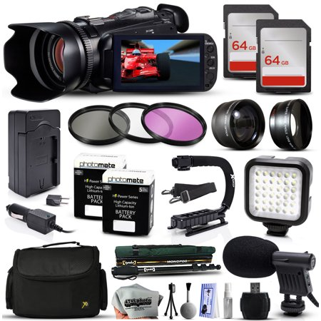 Buy Canon XA10 Professional Camcorder Video Camera + 128GB Memory + Travel Charger + 3 Filters + 2...