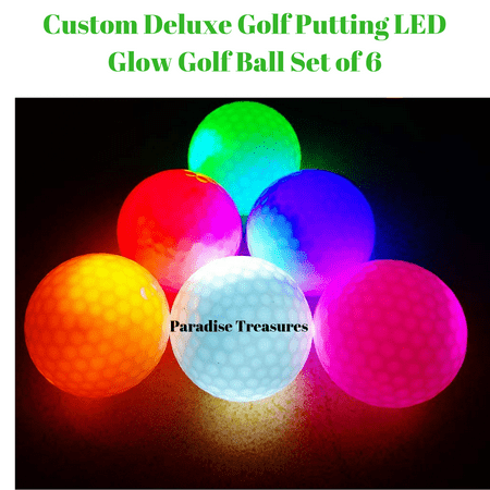 LED Glow Golf Balls, Personalized Practice Light up Golf Ball Glow in Dark for Women Men, Colored Novelty Funny Night Golf Balls Bulk (Pack of 6)](Novelty Golf Balls)
