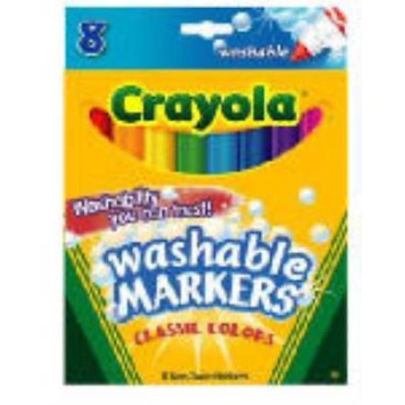 Crayola Washable Broad Line Marker Classic Colors  Red 2Pk