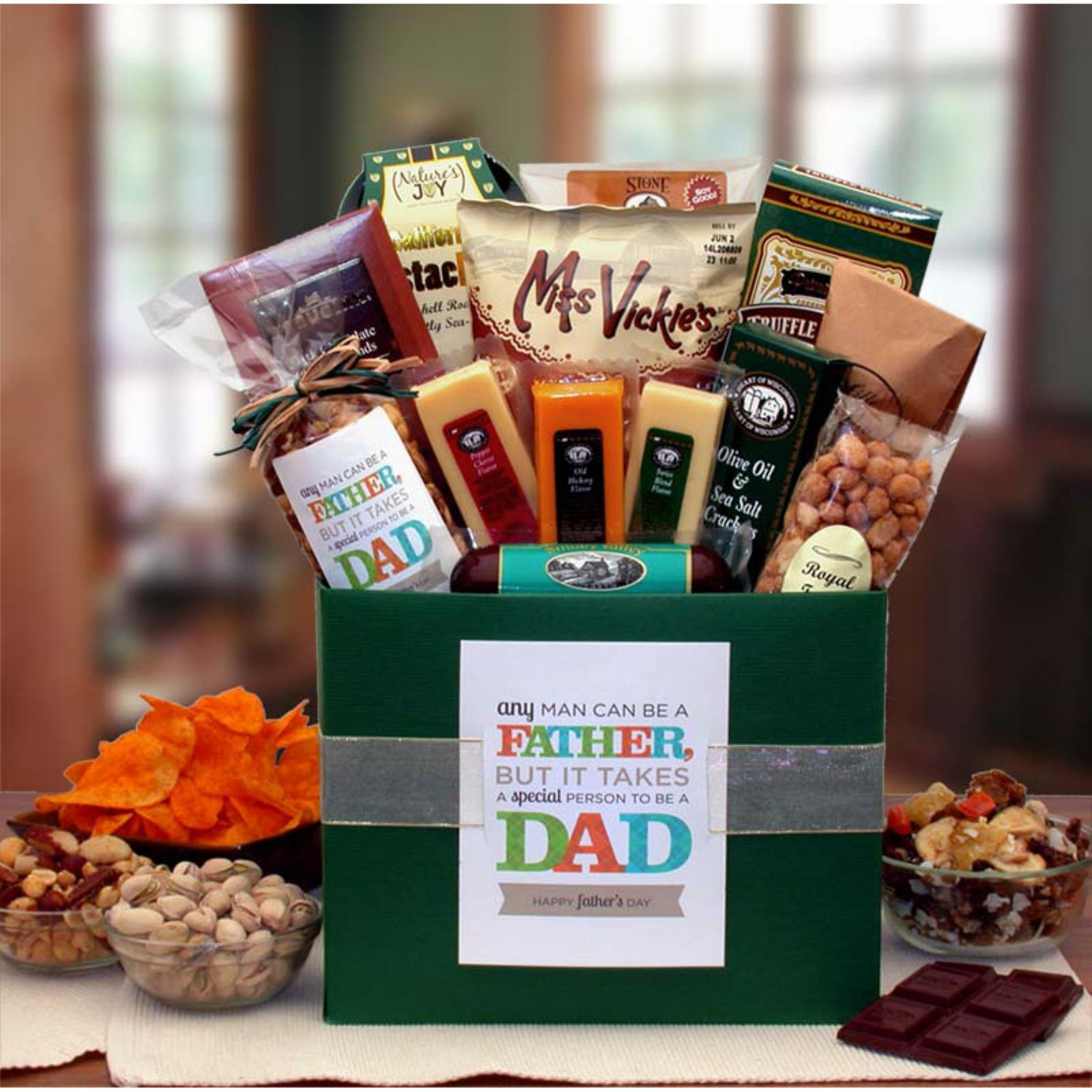 It Takes A Special Man To Be A Dad Gift Basket Box