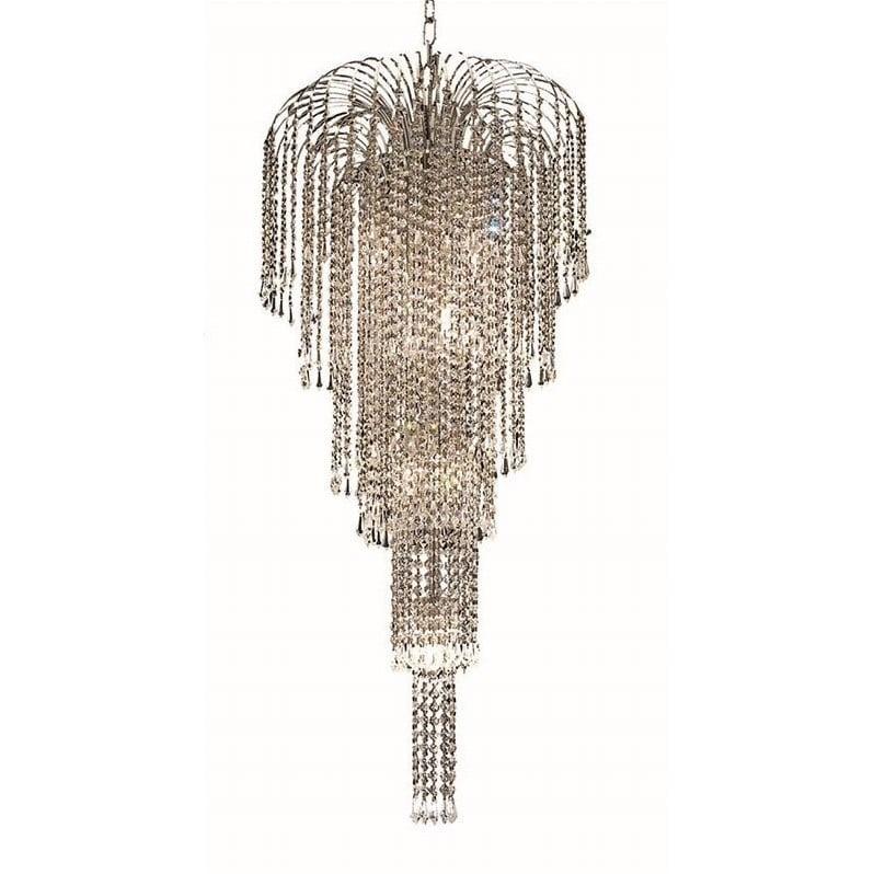 """Elegant Lighting Falls 19"""" 9 Light Elements Crystal Chandelier - image 1 de 1"""