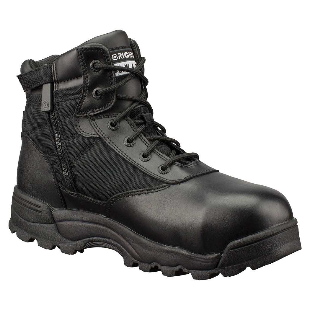 "Original Swat Classic 6"" Waterproof Side Zipper Safety Mens Black Boots 116101"