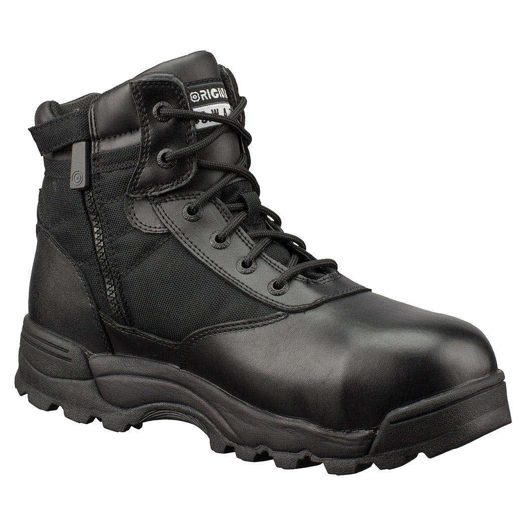 "Original Swat Classic 6"" Waterproof Side Zipper Safety Mens Black Boots 116101"