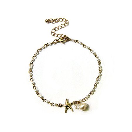 Beaded Starfish Anklet Bracelet Ankle Band Summer Beach Jewelry Star ...