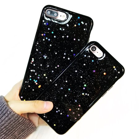 Black Sparkle Faceplate - For iPhone 6 4.7