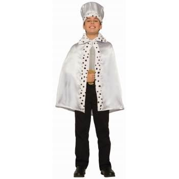 Silver Cape Costume (CHILD ROAYL CAPE - SILVER)