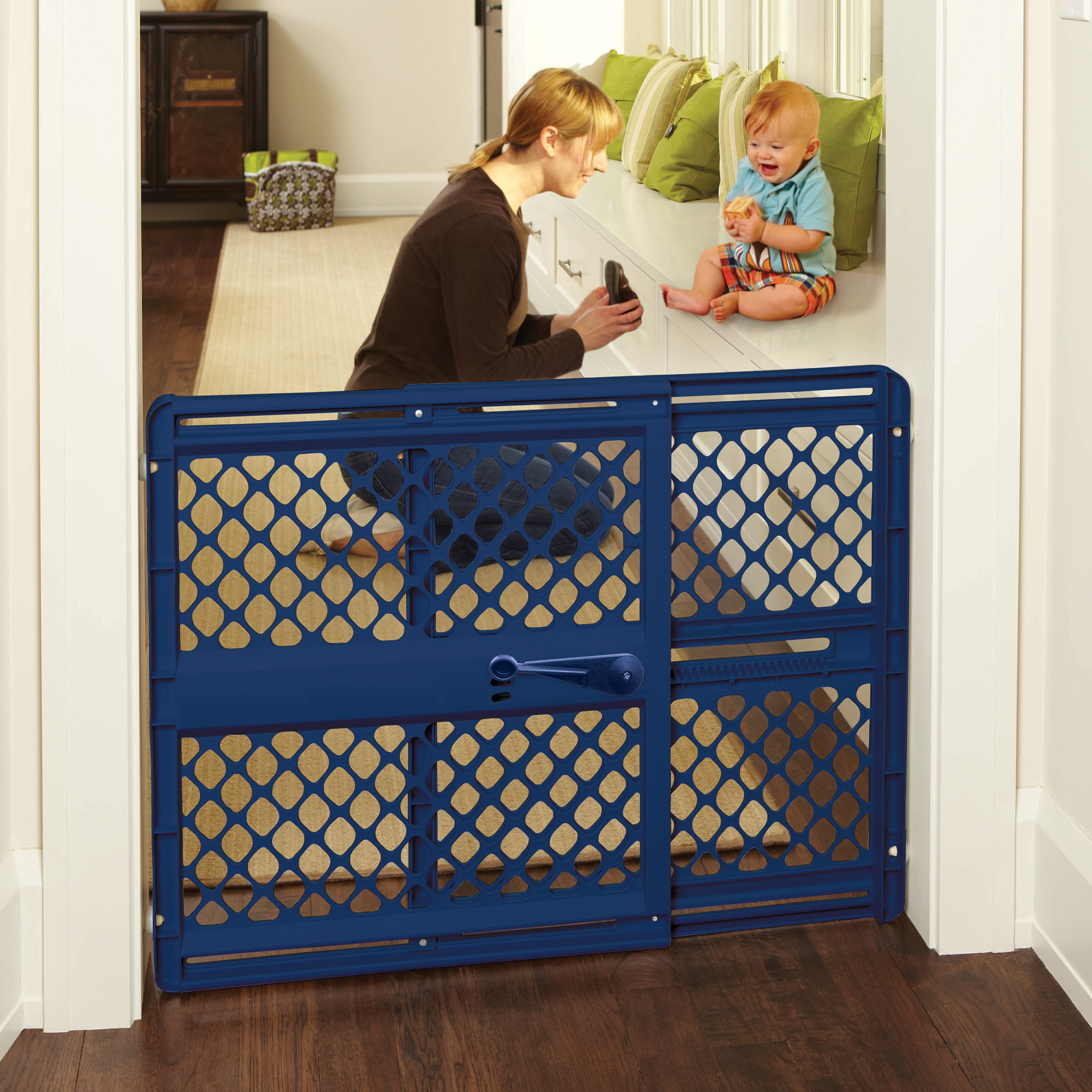 North States Supergate Classic Navy Easy Use Baby Gate