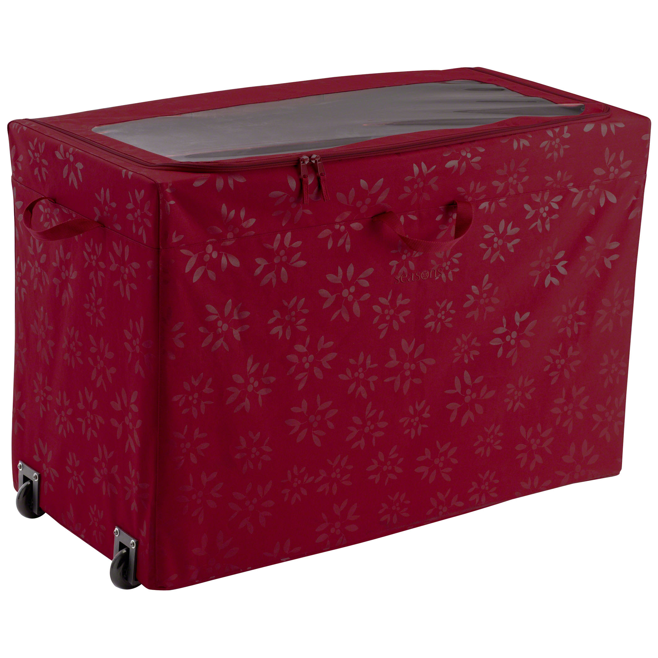 Classic Accessories Seasons All-Purpose Rolling Storage Bin - Heavy-Duty Holiday Storage