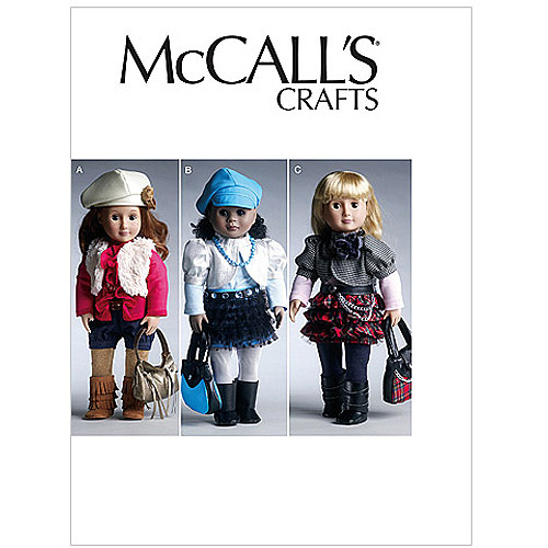 "McCall's Pattern 18"" (46cm) Doll Clothes and Accessories, 1 Size Only"