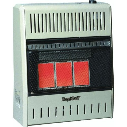 KozyWorld 18,000 BTU Infrared Natural Gas Wall  Space Heater with Manual