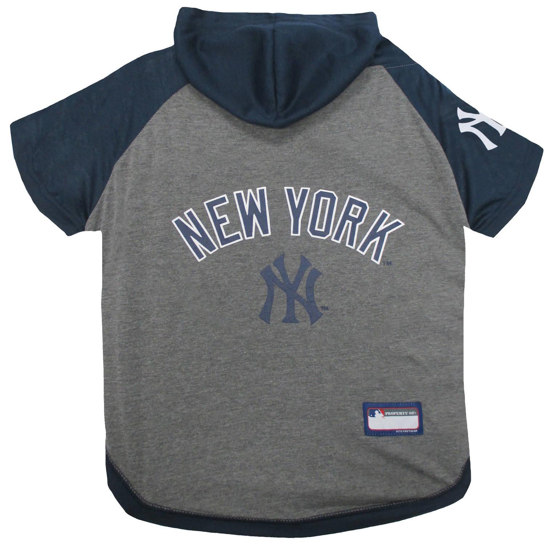 Pets First MLB New York Yankees Hoodie Tee Shirt