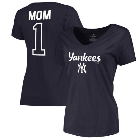 New York Yankees Fanatics Branded Women's 2019 Mother's Day #1 Mom Plus Size T-Shirt -